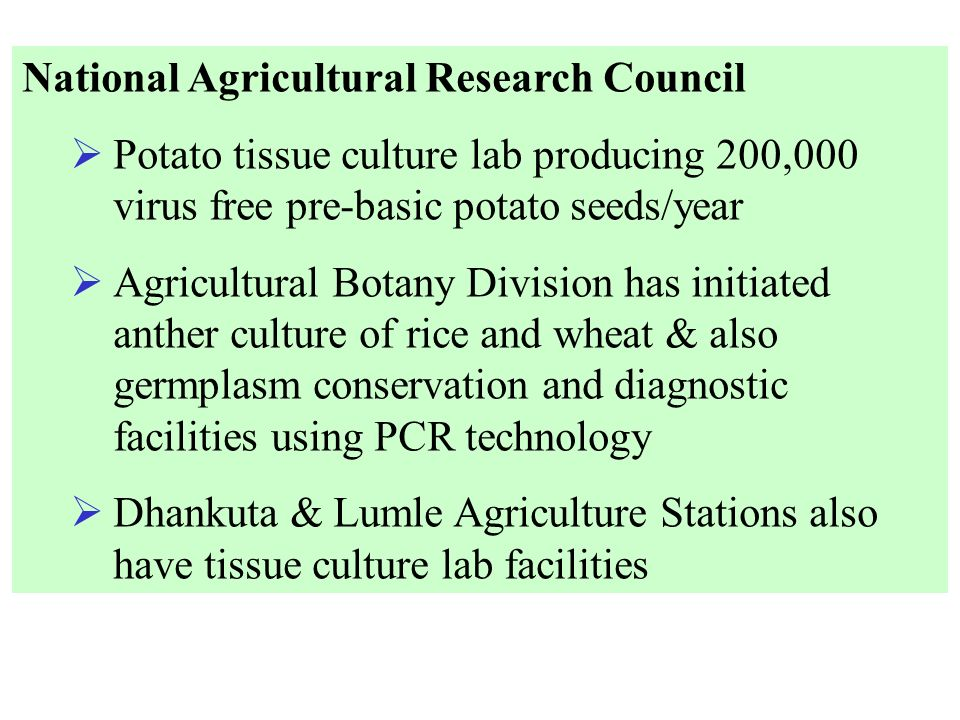 National Agricultural Research Council