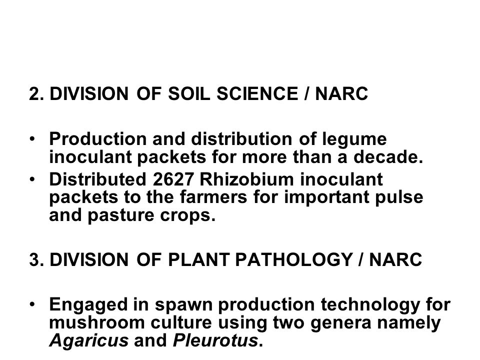 2. DIVISION OF SOIL SCIENCE / NARC