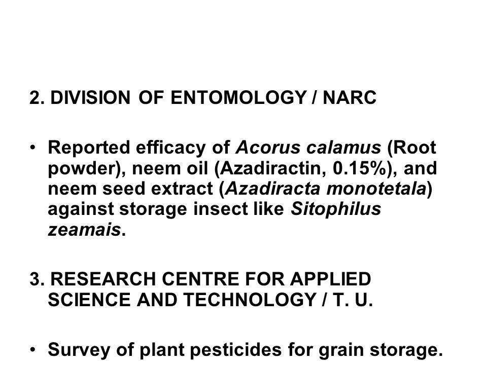 2. DIVISION OF ENTOMOLOGY / NARC