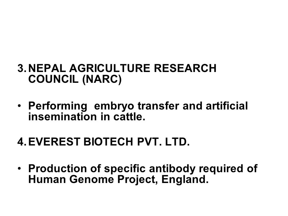 NEPAL AGRICULTURE RESEARCH COUNCIL (NARC)