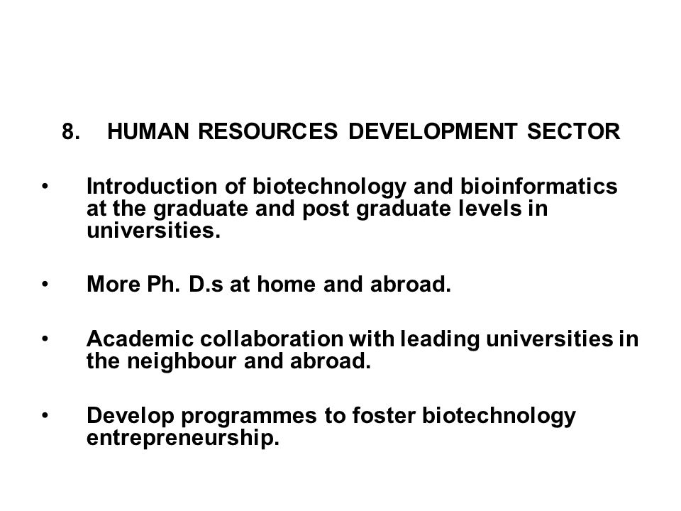 HUMAN RESOURCES DEVELOPMENT SECTOR