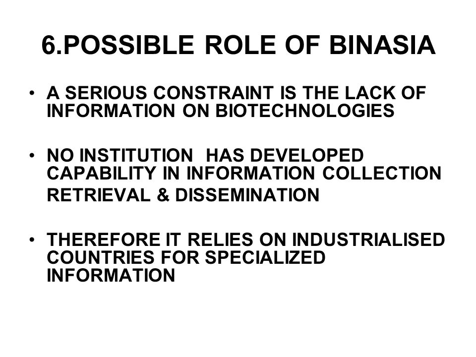 6.POSSIBLE ROLE OF BINASIA
