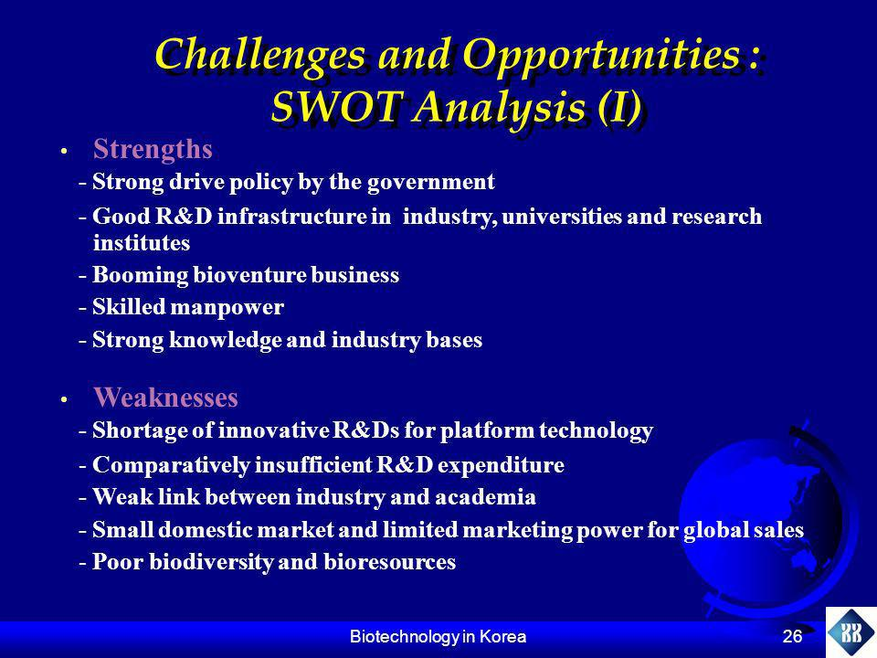 Challenges and Opportunities :