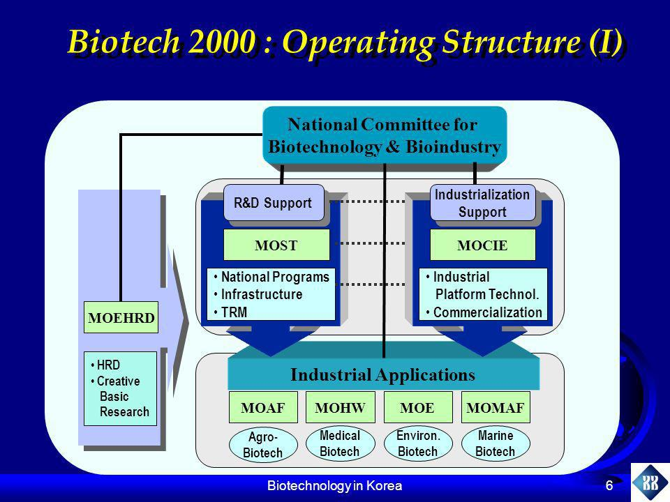 Biotech 2000 : Operating Structure (I)