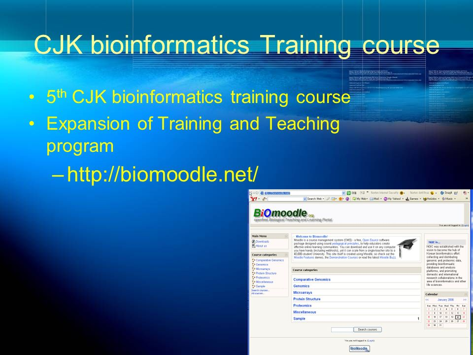 CJK bioinformatics Training course
