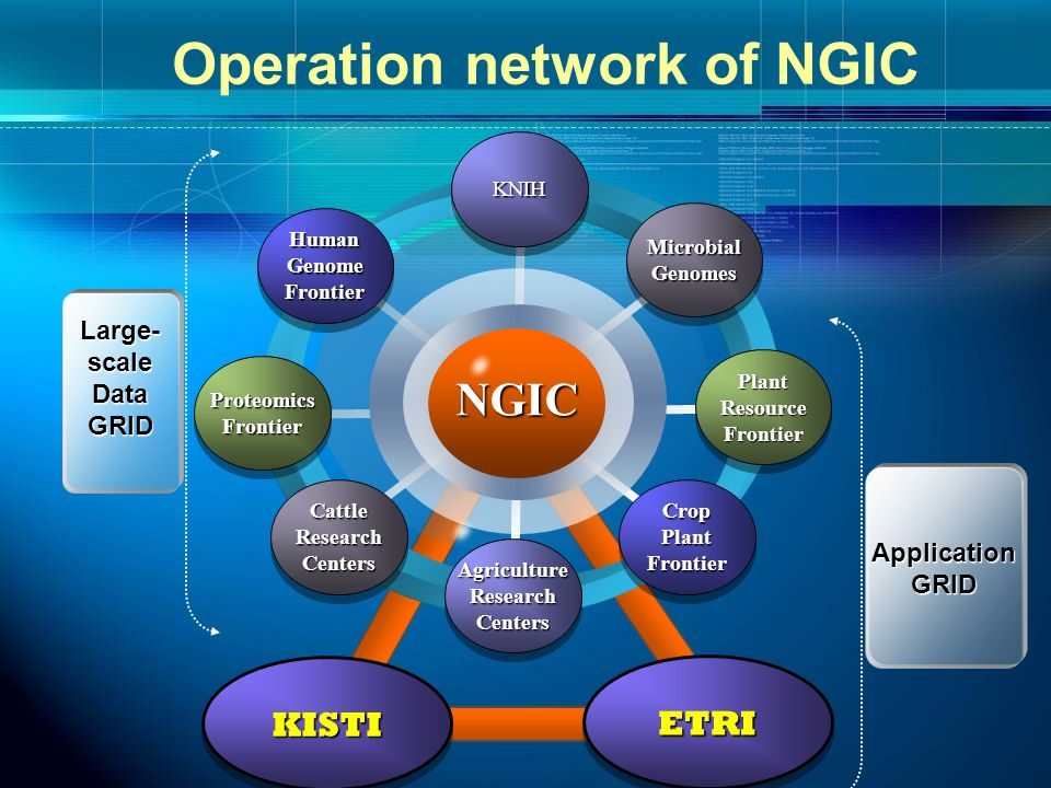 Operation network of NGIC