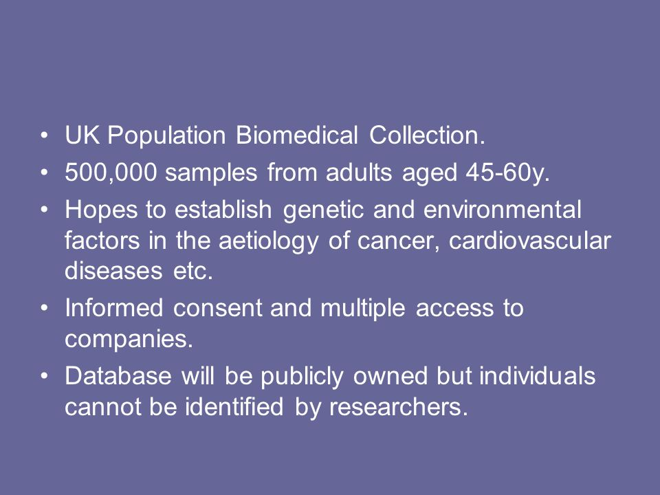 UK Population Biomedical Collection.