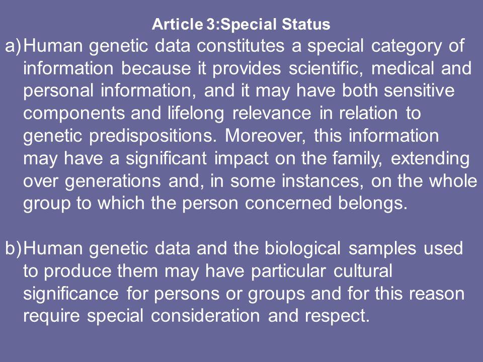 Article 3:Special Status