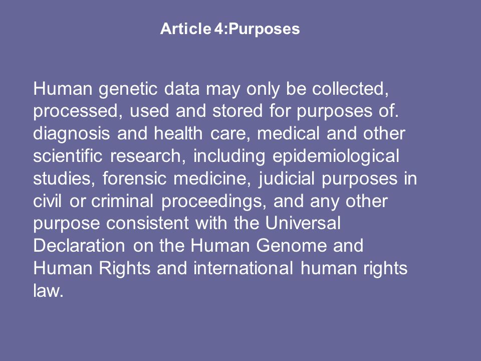 Article 4:Purposes