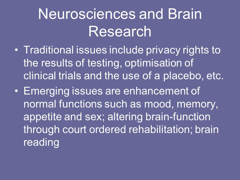 Neurosciences and Brain Research