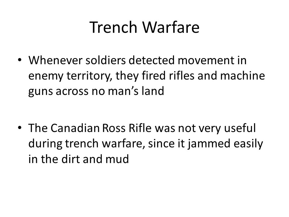 trench warfare was a very important When we talk about world war 1, the most iconic and remembered idea is the trenches we've heard about trench warfare and the months it took to move the lines even a few feet it's hard to fully understand how difficult this time was without a true understanding of trench warfare.