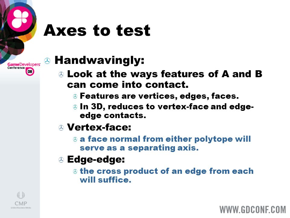 Axes to test Handwavingly: