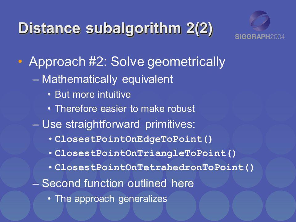Distance subalgorithm 2(2)