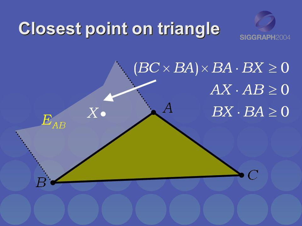Closest point on triangle