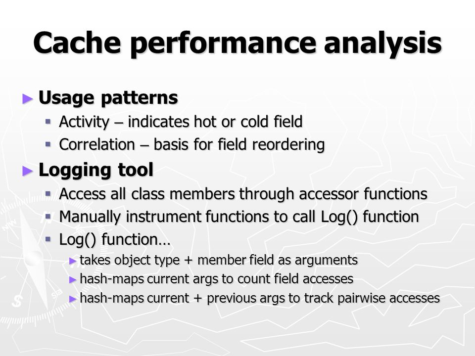 Cache performance analysis