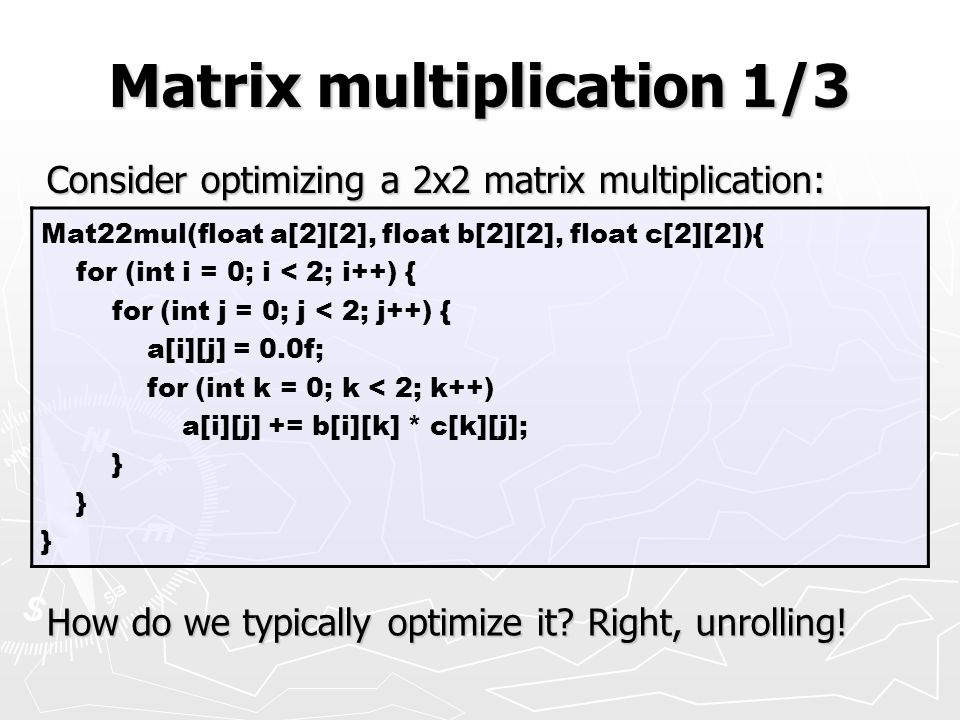 Matrix multiplication 1/3