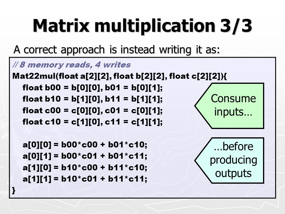 Matrix multiplication 3/3