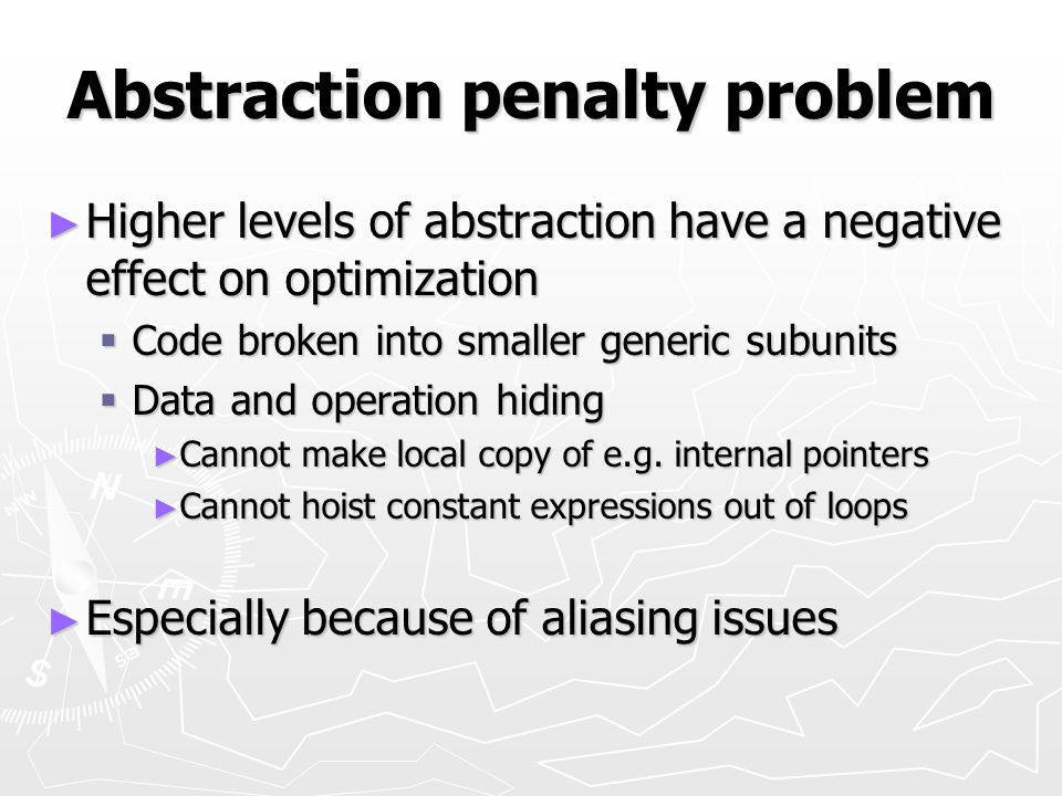 Abstraction penalty problem