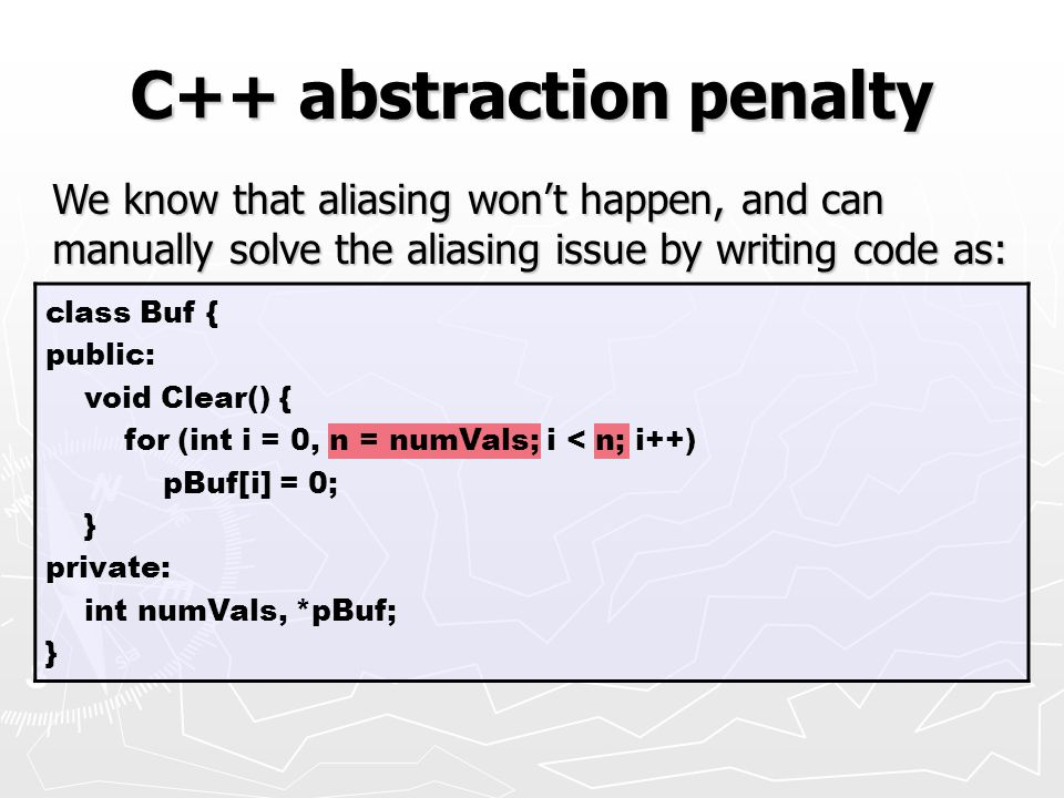 C++ abstraction penalty