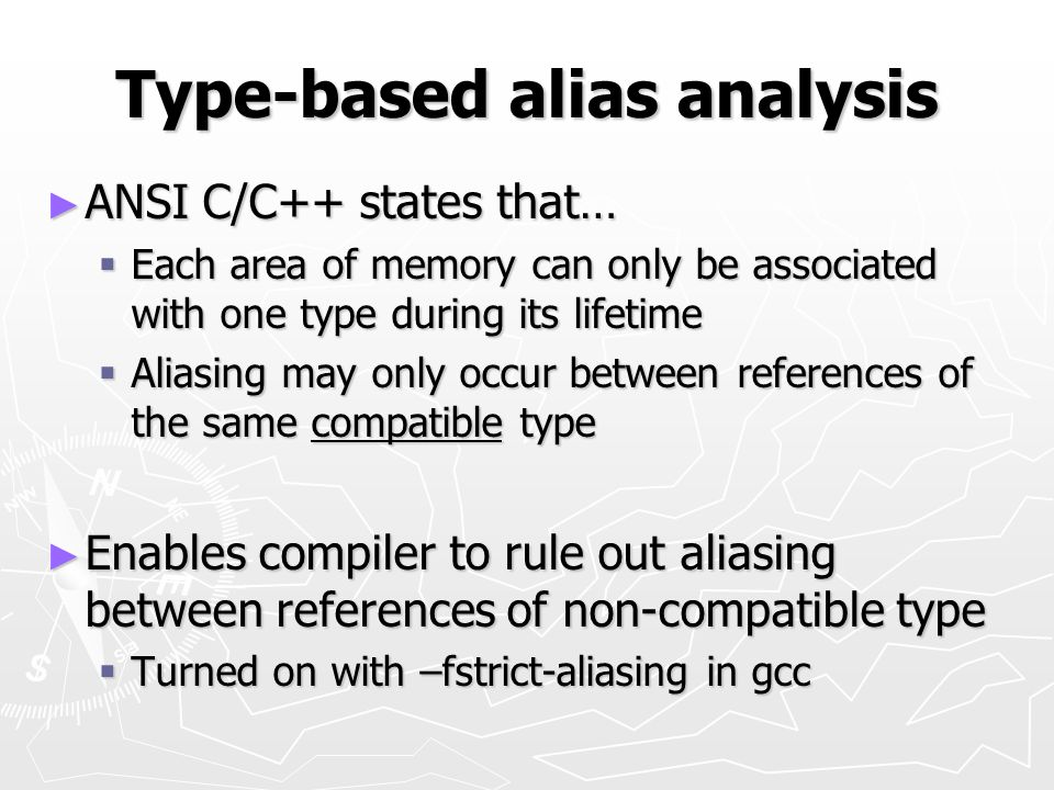 Type-based alias analysis