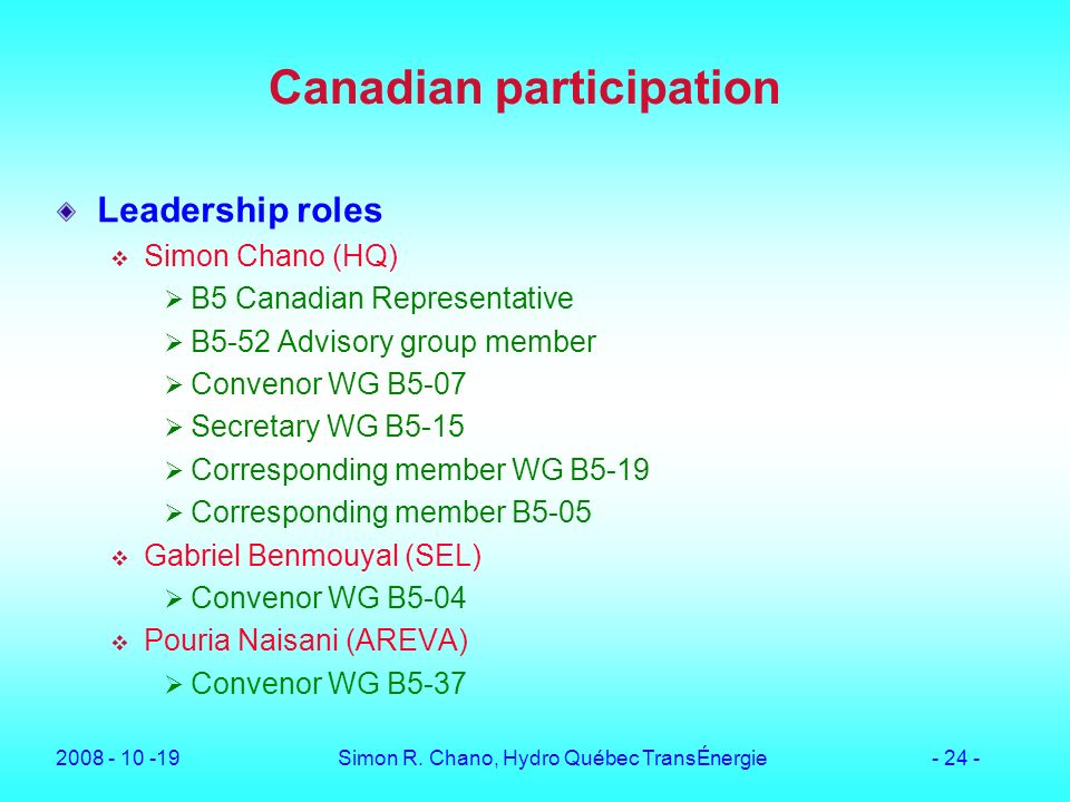 Canadian participation