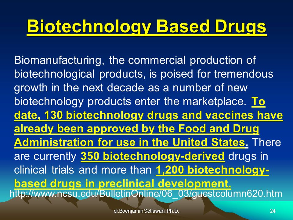 Biotechnology Based Drugs