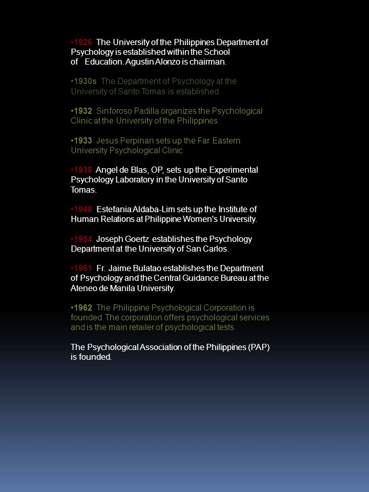 sinforoso padilla first filip ino to major psychology from the undergraduate to doctoral Sinforoso padilla first filip ino to major psychology from the undergraduate to doctoral chapter 1: nature of psychology psychology • it is the scientific study of.