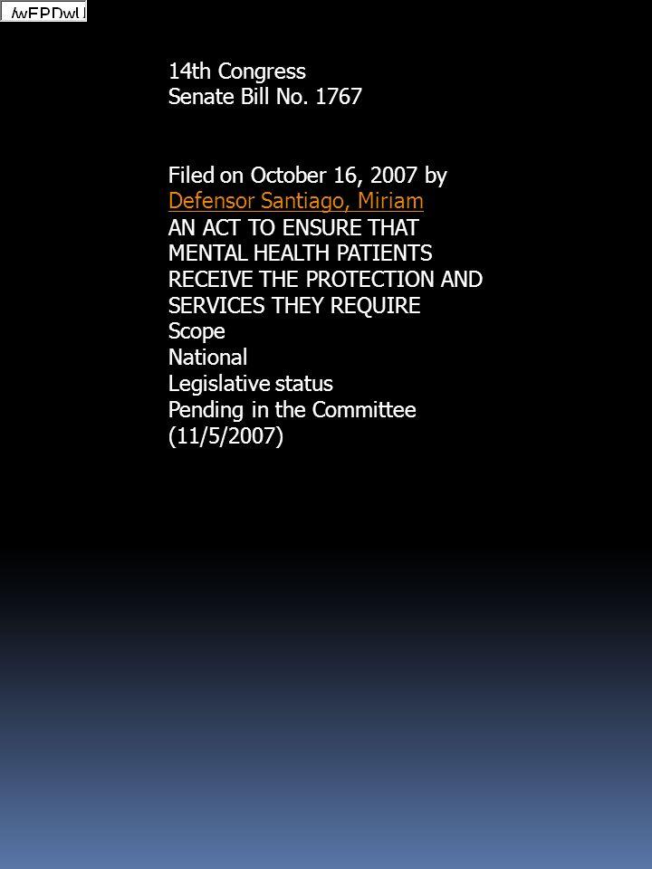 14th Congress Senate Bill No. 1767