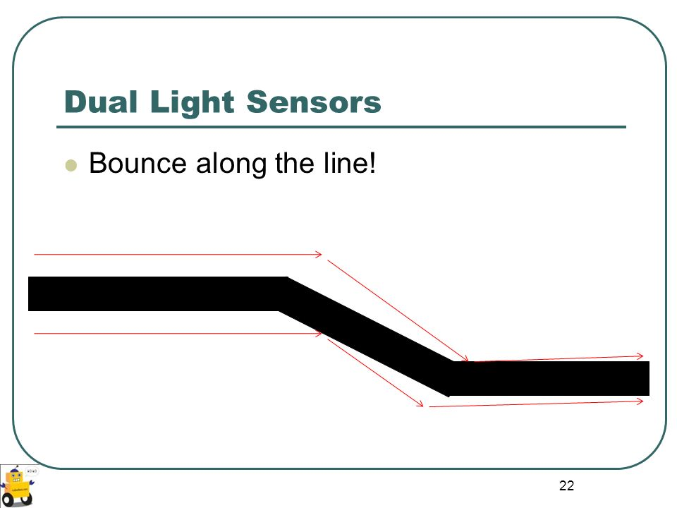 Dual Light Sensors Bounce along the line!