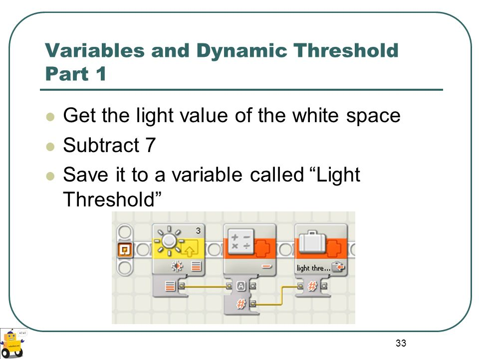 Variables and Dynamic Threshold Part 1