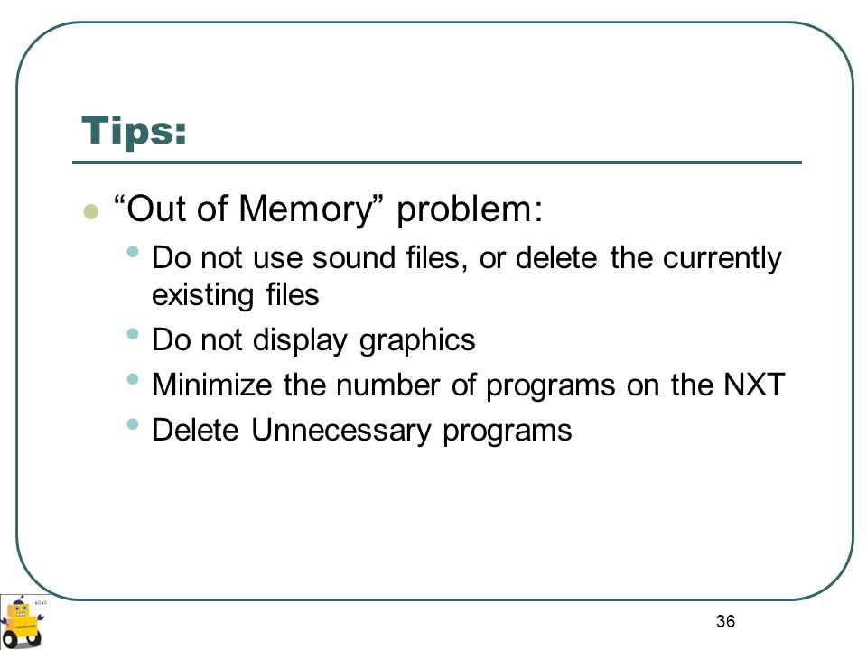 Tips: Out of Memory problem: