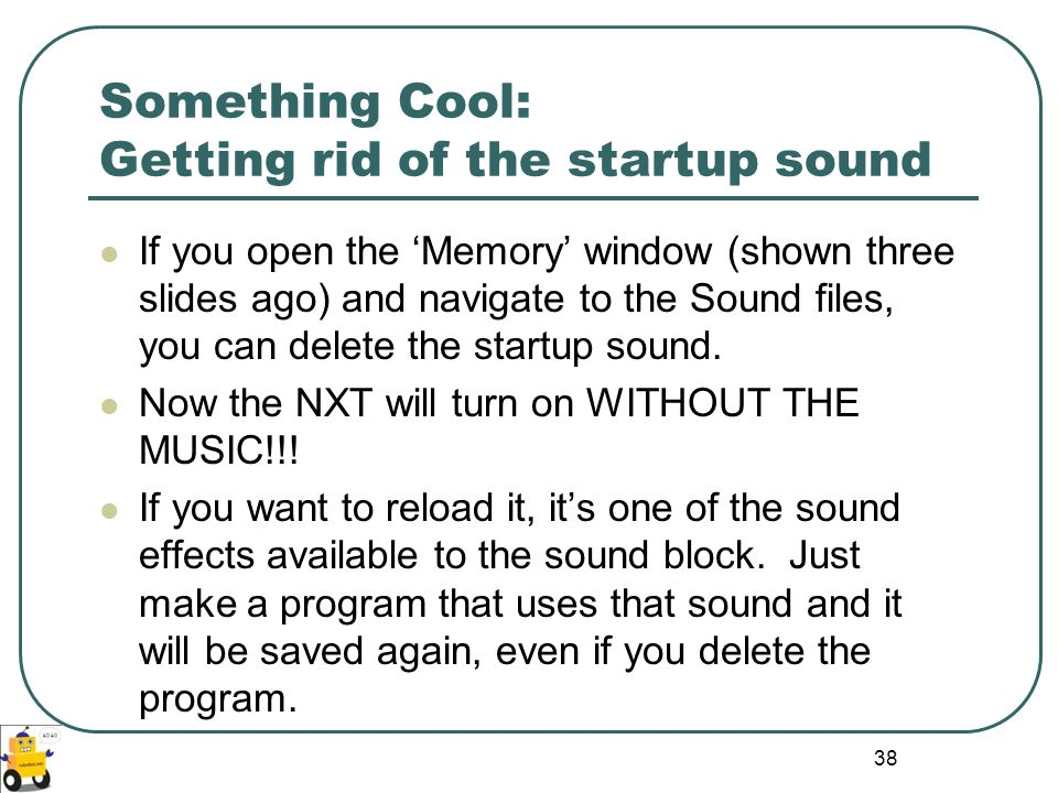 Something Cool: Getting rid of the startup sound