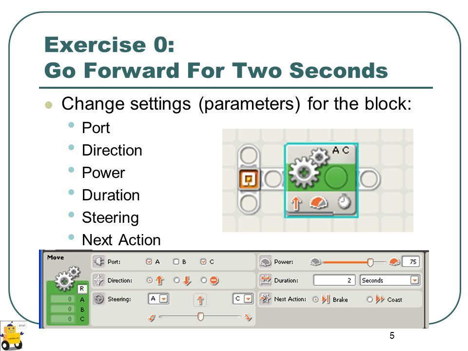 Exercise 0: Go Forward For Two Seconds