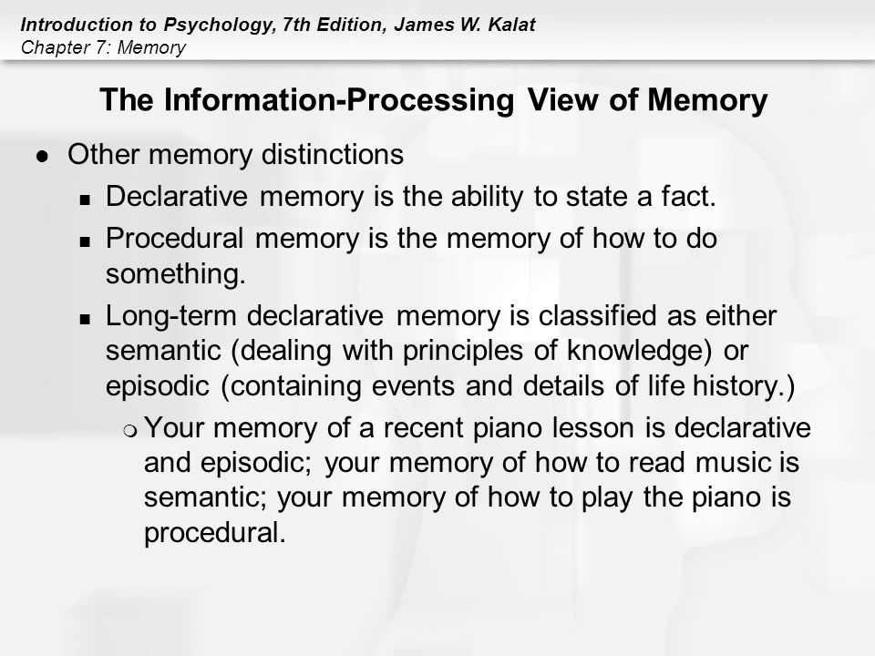 semantic memory information processing Age-related decline in episodic and semantic memory performance was   processing speed mainly mediated decline of semantic memory,.