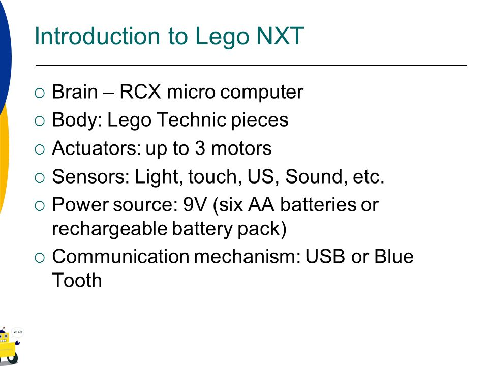 Introduction to Lego NXT