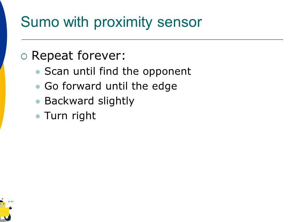 Sumo with proximity sensor