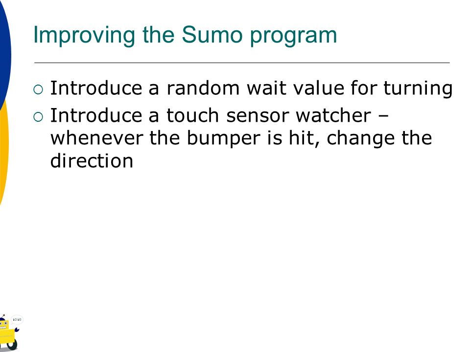 Improving the Sumo program