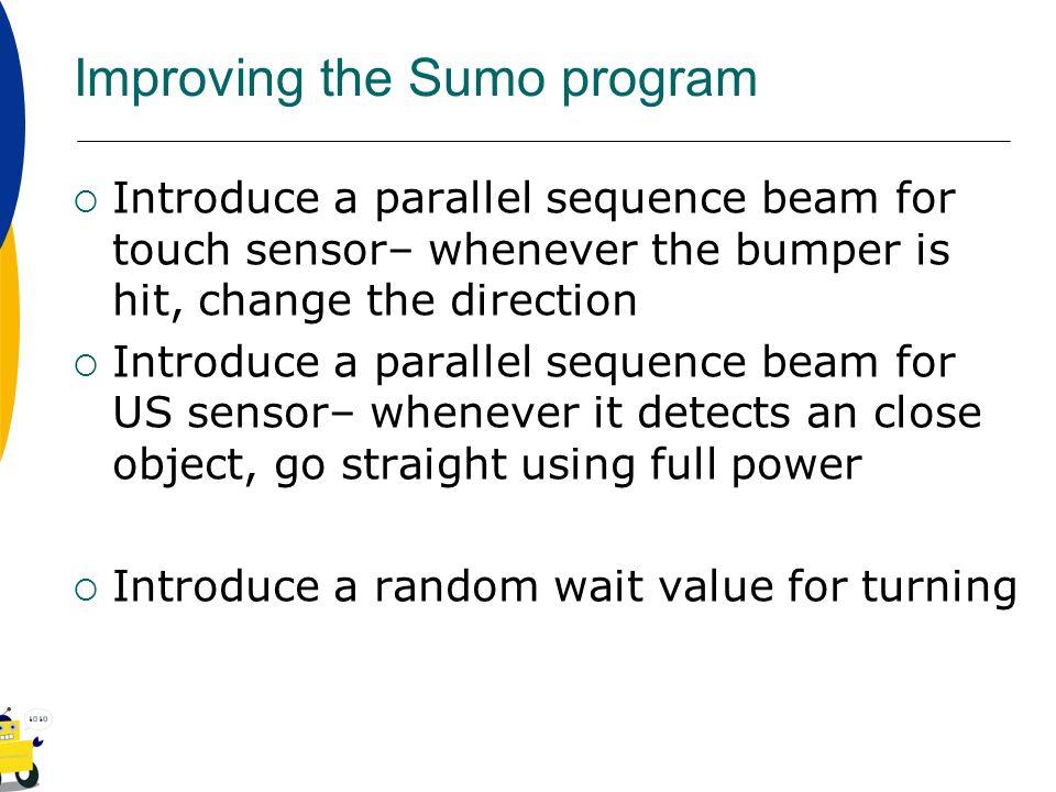 Improving the Sumo program