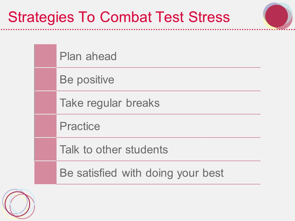 Strategies To Combat Test Stress