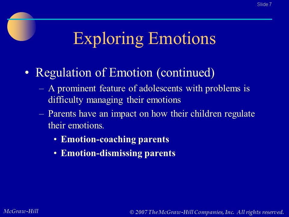 emotion and parents Emotion coaching: the heart of parenting presents a 5-step method that builds emotional intelligence and creates positive, long lasting effects for children easy to learn, and used by parents, educators and care-givers, it supports kids through life's ups and downs in a way that builds confidence.