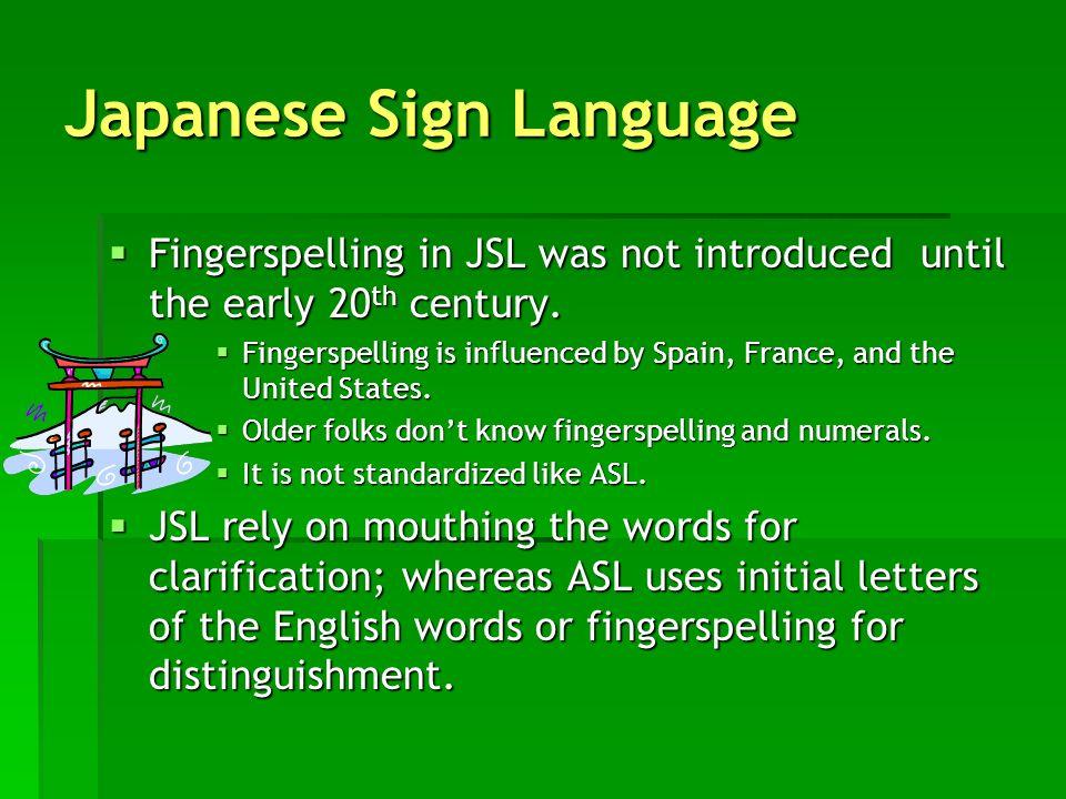 Japanese Sign Language