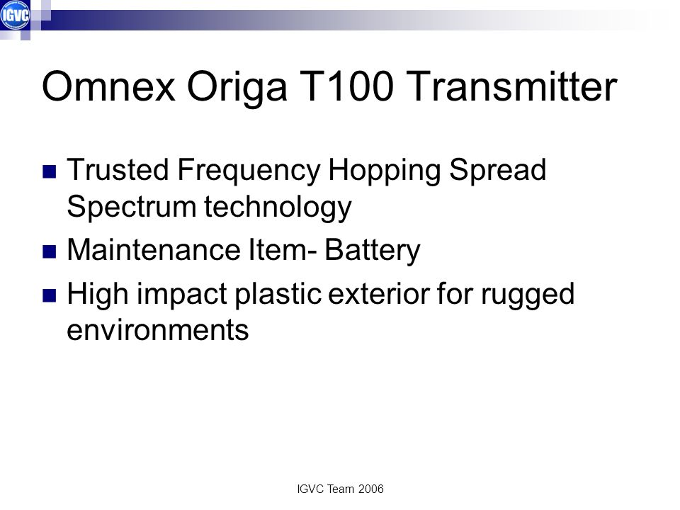Omnex Origa T100 Transmitter