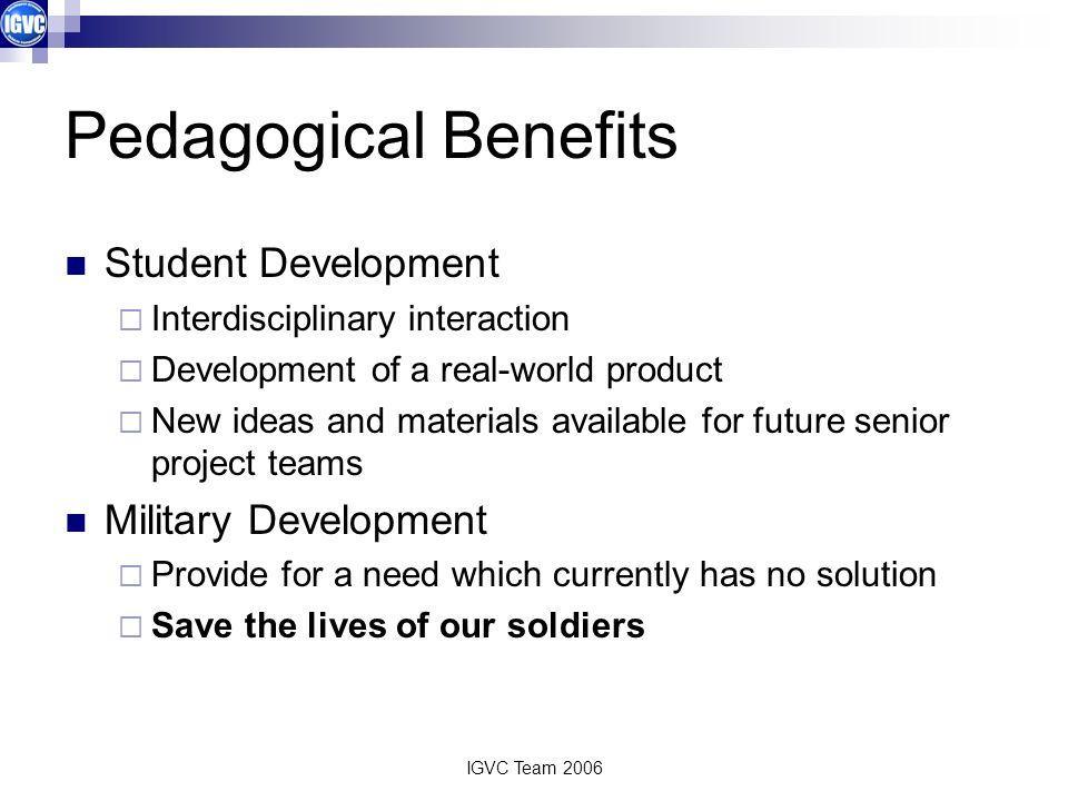 Pedagogical Benefits Student Development Military Development