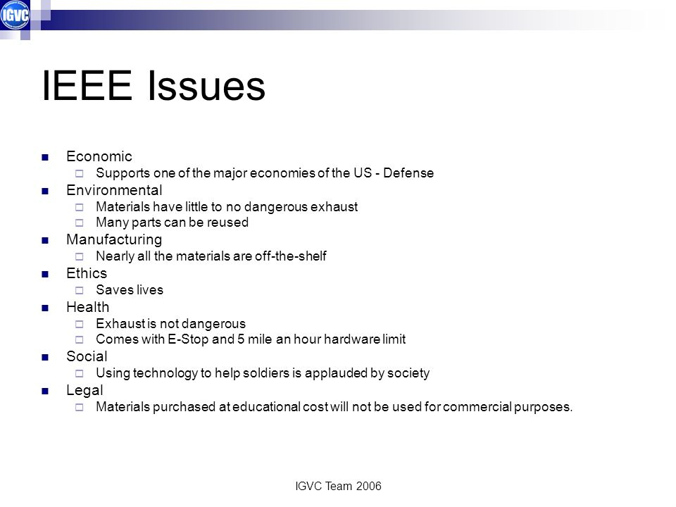 IEEE Issues Economic Environmental Manufacturing Ethics Health Social