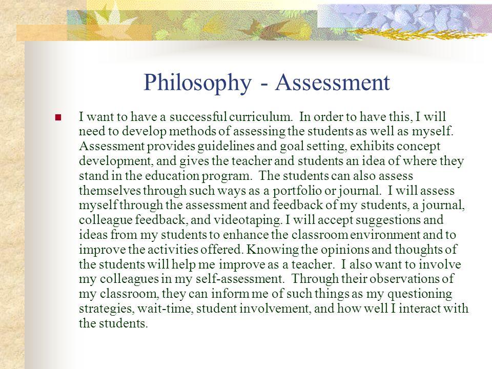 Philosophy - Assessment