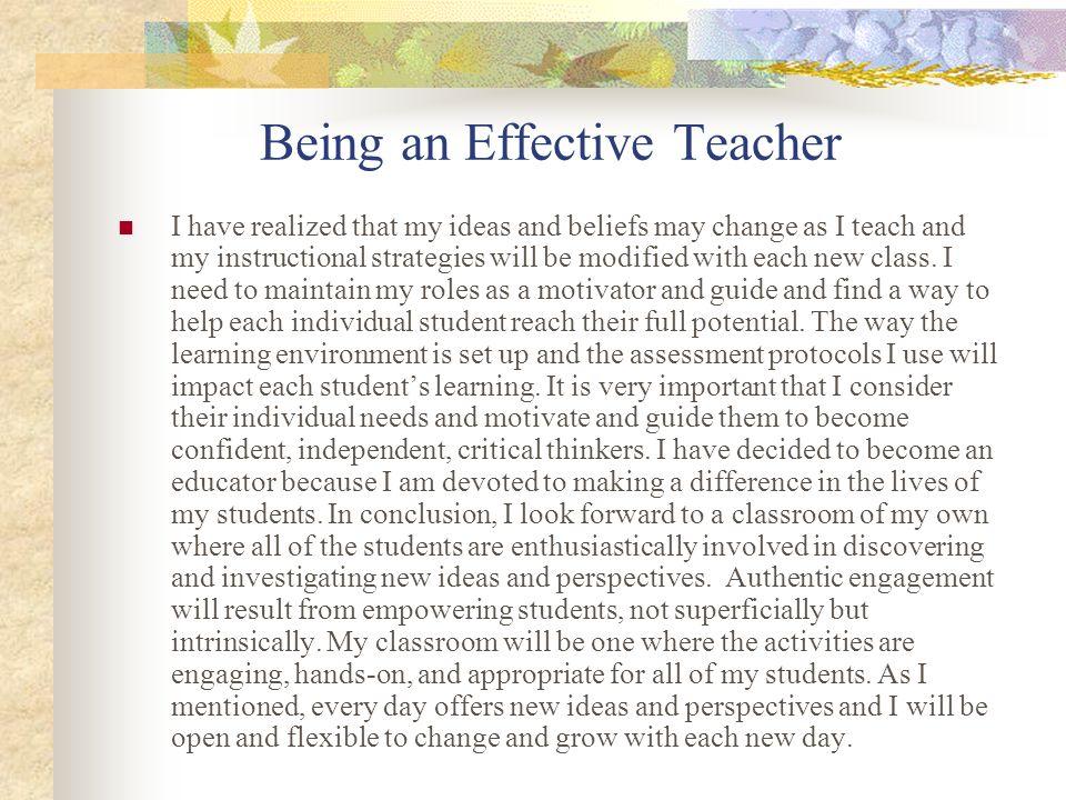 Being an Effective Teacher