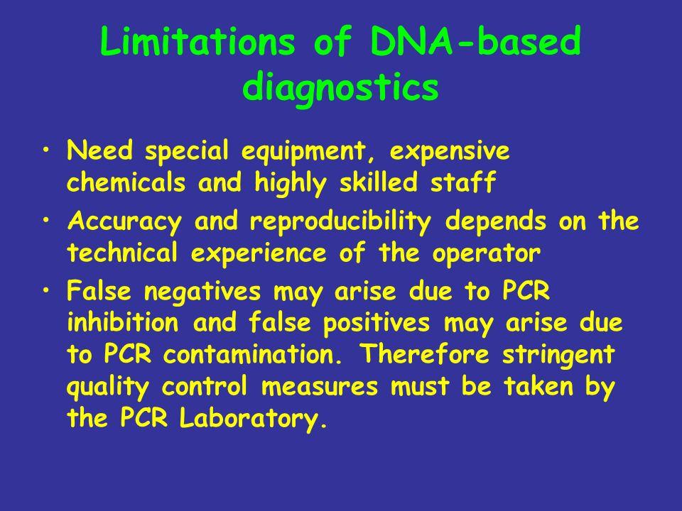 Limitations of DNA-based diagnostics