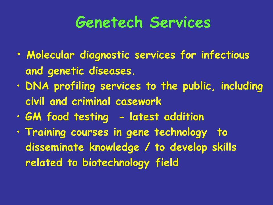 Genetech Services Molecular diagnostic services for infectious