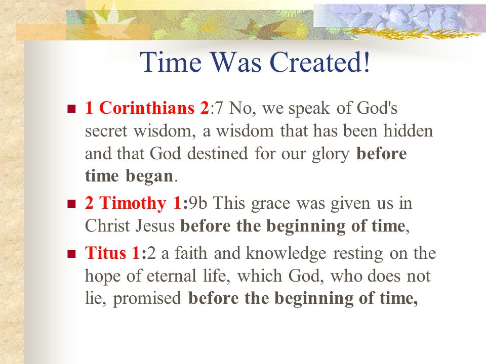 Time Was Created!