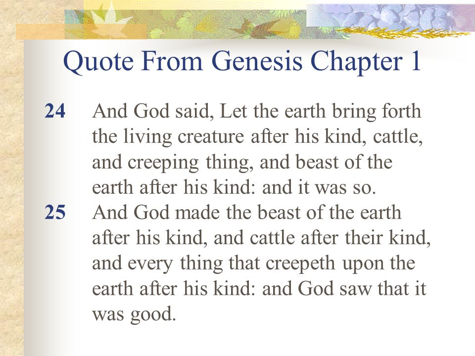 Quote From Genesis Chapter 1